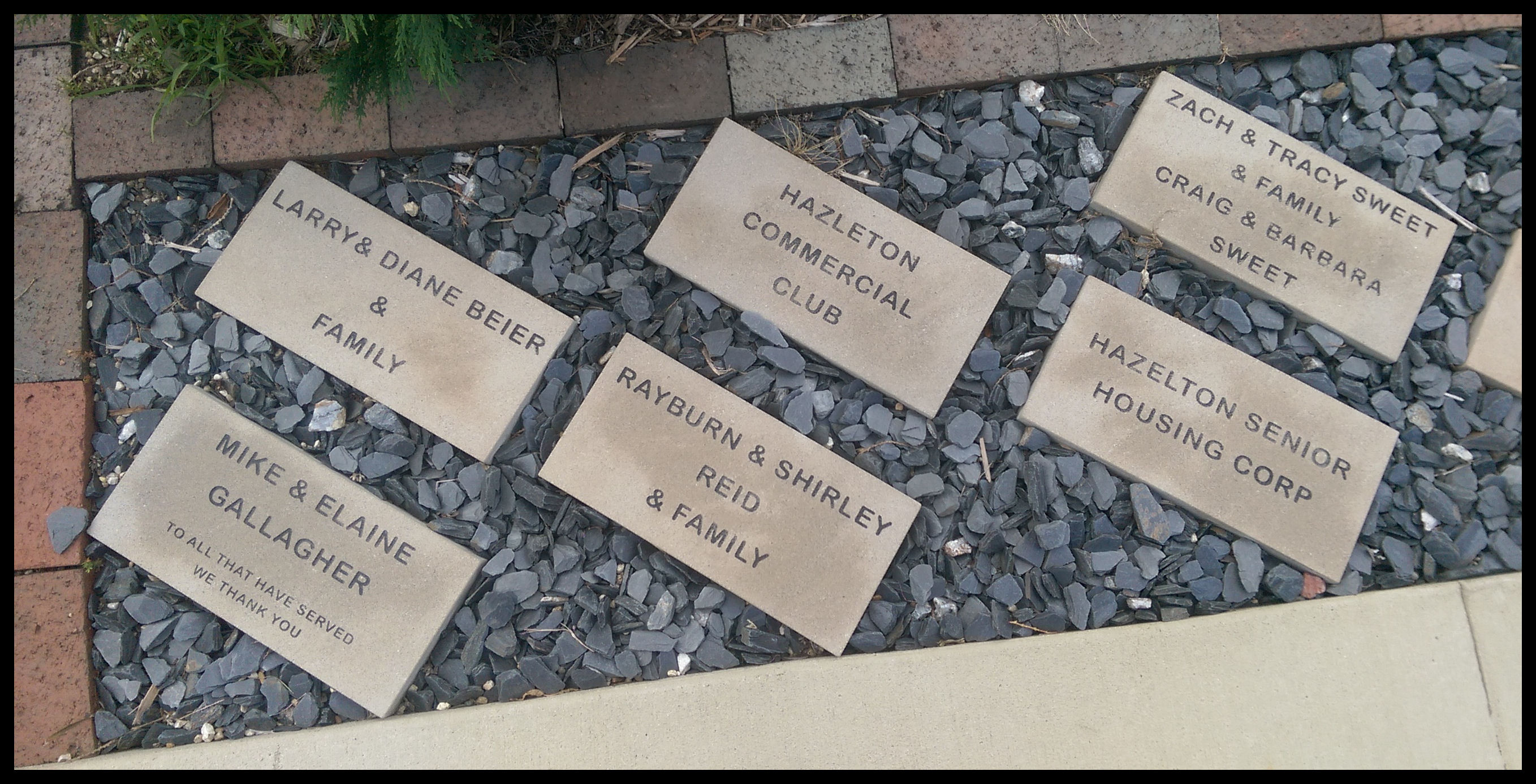 Hazleton Veteran's Memorial Engraved Bricks