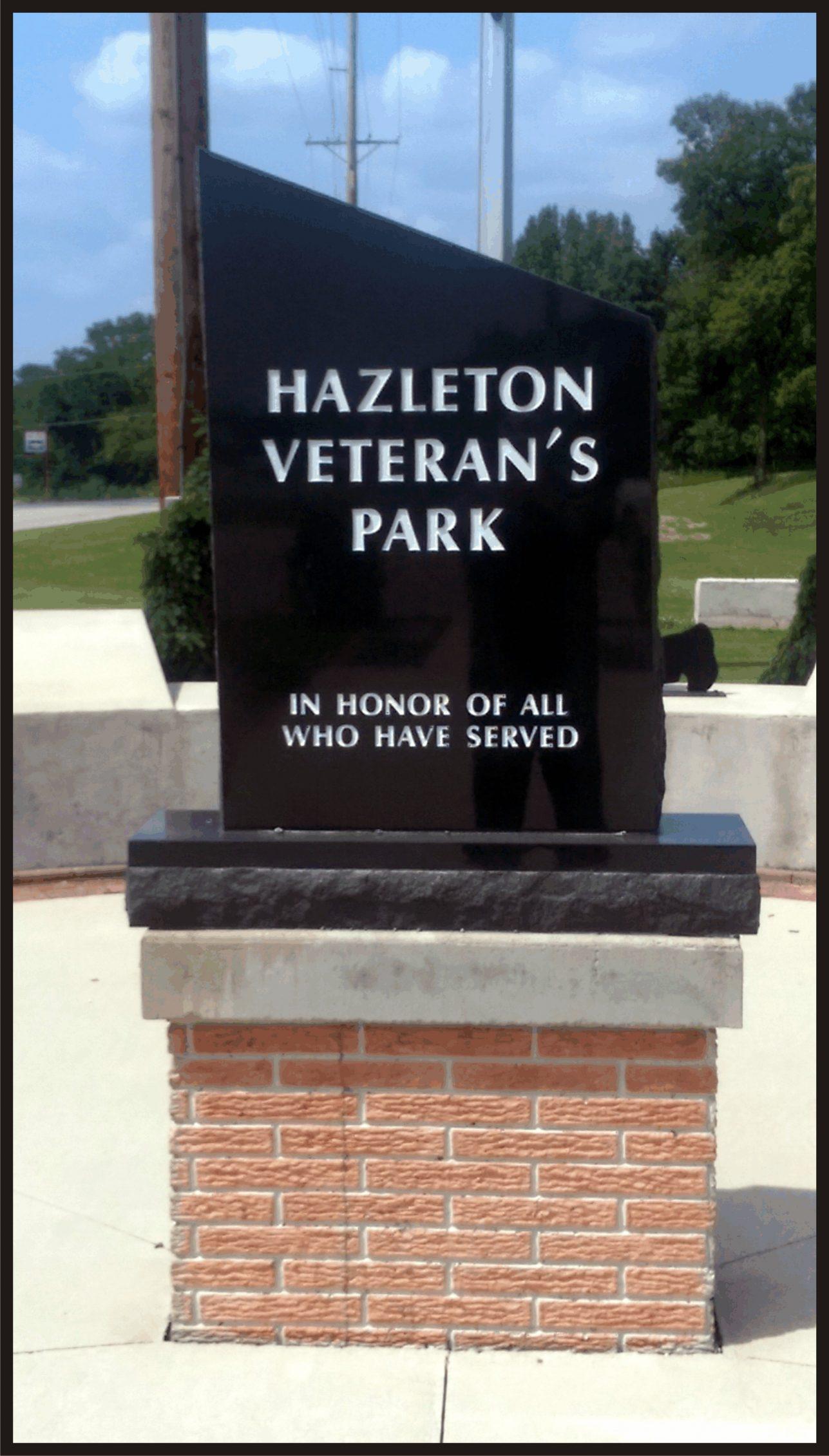 Hazleton Veteran's Park Marker
