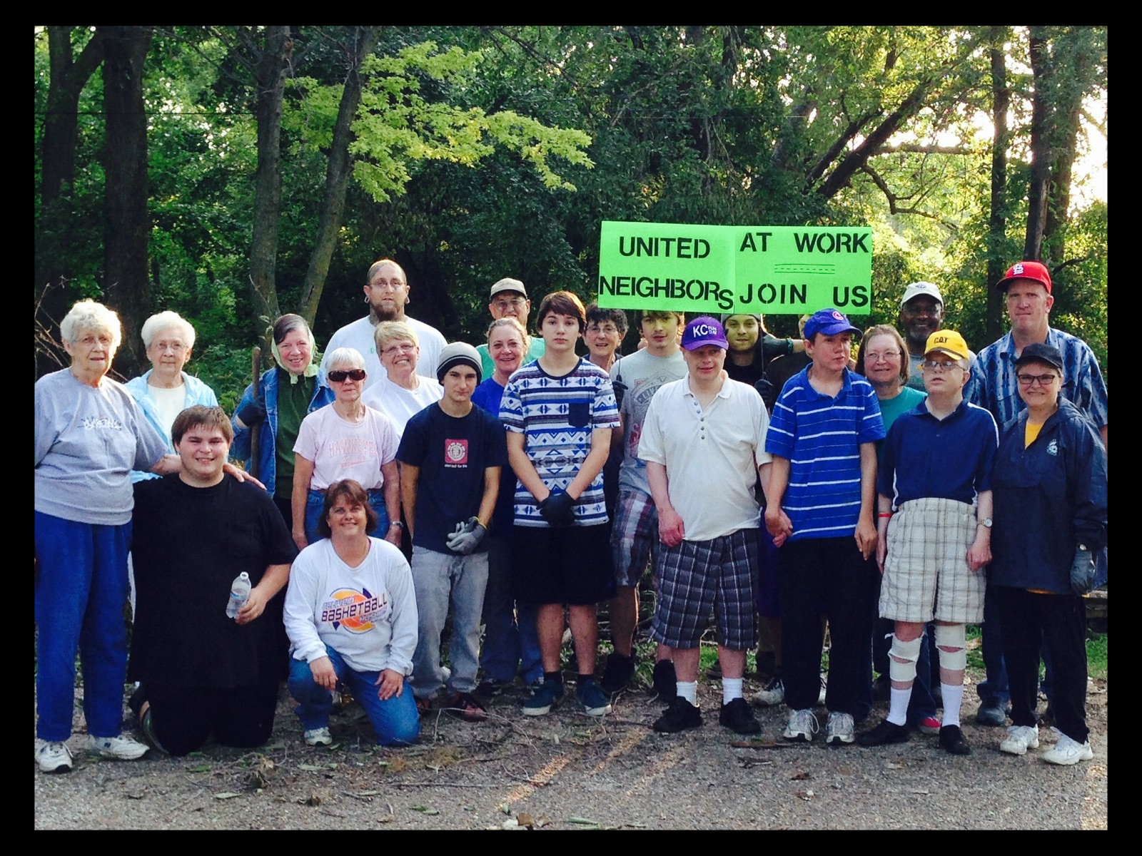 United Neighbors group cleaning up the west end of town.